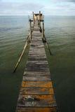 Footbridge to the fisherman hut royalty free stock photo