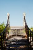 Footbridge to nowhere. On blue sky background Royalty Free Stock Photos