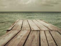 Footbridge to the sea Stock Photo