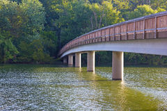 Footbridge to the Theodore Roosevelt Island. Stock Photography