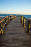 Footbridge towards the Mediterranean Royalty Free Stock Photography