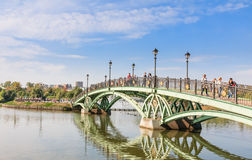 Footbridge in the Tsaritsyno State Museum. Moscow Stock Photo