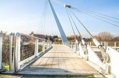 footbridge w Casalecchio di Reno - Bologna Zdjęcia Stock