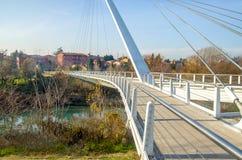 footbridge w Casalecchio di Reno - Bologna Zdjęcia Royalty Free