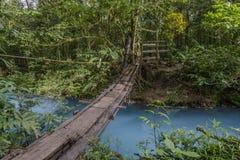 Footbridge w Costa Rica zdjęcia royalty free