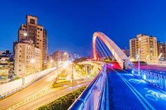 Footbridge w Guting terenie Taipei Obraz Royalty Free