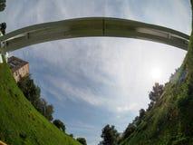 Footbridge w nizhniy novgorod Obraz Royalty Free