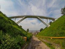 Footbridge w nizhniy novgorod Zdjęcia Stock