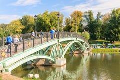 Footbridge w Tsaritsyno stanu muzeum moscow Zdjęcia Royalty Free