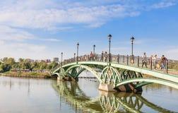 Footbridge w Tsaritsyno stanu muzeum moscow Zdjęcie Stock