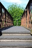 Footbridge walkway. Royalty Free Stock Photo
