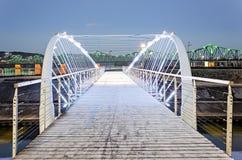 Footbridge in Wloclawek Royalty Free Stock Photography