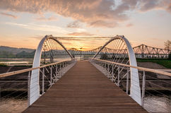 Footbridge in Wloclawek Stock Photo