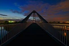 Footbridge z dwa częściami dzień Obraz Stock
