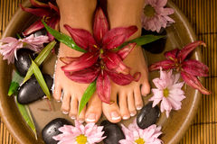Footcare and pampering Royalty Free Stock Images