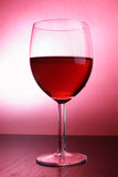 Footed glass of red wine Royalty Free Stock Photo