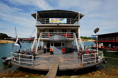 80 footer steel Pontoon Houseboats Royalty Free Stock Images