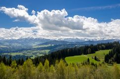 Foothills of the Alps. Alps mountains stock image