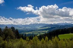 Foothills of the Alps. Alps mountains stock photos
