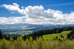 Foothills of the Alps. Alps mountains stock images