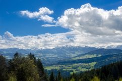 Foothills of the Alps. Alps mountains royalty free stock photography