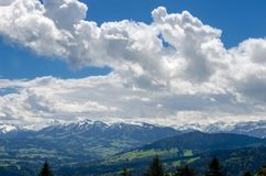 Foothills of the Alps. Alps mountains royalty free stock image