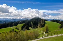 Foothills of the Alps. Alps mountains stock photography