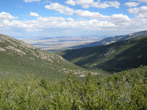 Foothills in the Great Basin National Park, Nevada. Image is avirw looking east showing the lower elevation foothills to the Great Basin National Park, Nevada stock photos
