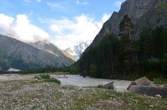In the foothills of Mount Elbrus. Acclimatization in the foothills of Mount Elbrus Royalty Free Stock Photo