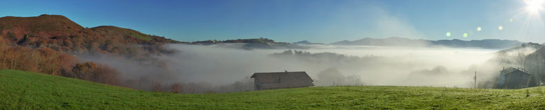 Foothills n the fog, Pays Basque Royalty Free Stock Photography