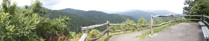 Foothills Parkway Pano 1 Stock Image