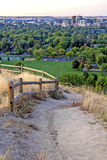 Foothills path and Boise Idaho Stock Photography