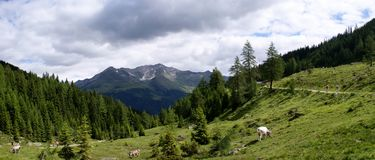 Foothills of the Stubai Alps Royalty Free Stock Images