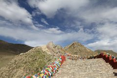 The foothills of Tibet Stock Photo