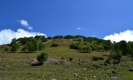 The foothills of the valley. Photo taken on: July 27 Saturday, 2013 Royalty Free Stock Photos