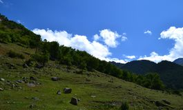 The foothills of the valley. Photo taken on: July 27 Saturday, 2013 Royalty Free Stock Photo