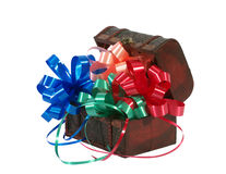 Footlocker с покрашенными смычками для подарка Стоковые Изображения