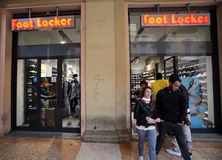A FootLocker shoe store in Italy Royalty Free Stock Images