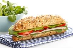 Footlong ham sandwich on white background Stock Photography