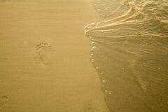 Footmark. An image of a mark on the beach Stock Image