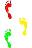 Footmark colorido Imagem de Stock