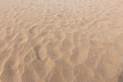 Footmarks on sand and sand texture Stock Photography