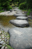 Footpath. A stone footpath over a small stream stock photo