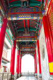 Footpath. Under roof on the temple Chinese style of Thailand Stock Photo