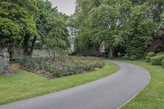 Footpath In Abbey Park, Leicester Stock Image