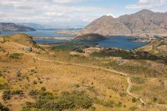 Footpath across hills above lake Wanaka Stock Photography