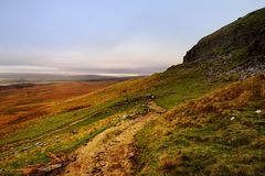 Footpath along the Fells Stock Photography