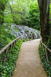Footpath. Along the Piedra river Stock Photo