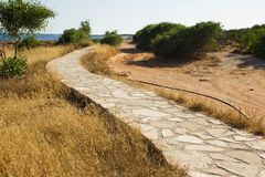 Footpath along the promenade by the sea Stock Photography