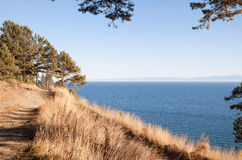 Footpath along the shore of Lake Baikal Stock Images